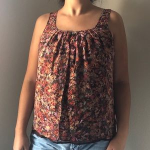 J Crew SIlk Floral Sleeveless Top Size Small